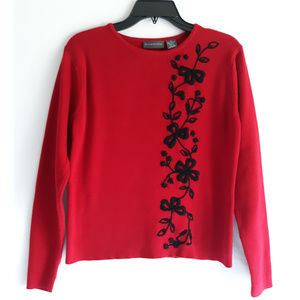 Relativity Embroidered Pullover Sweater